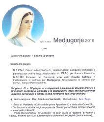 Pellegrinaggio a Medjugorie 2019